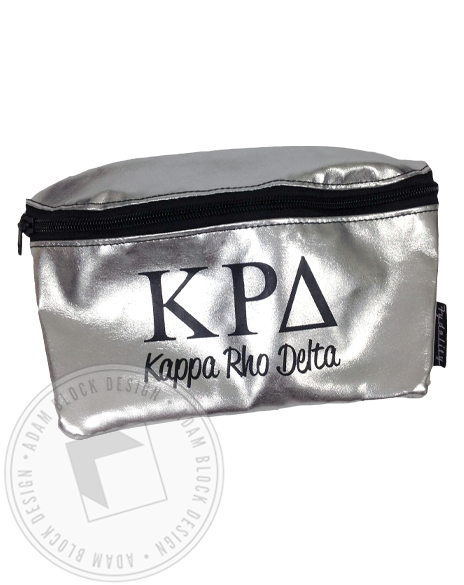 Kappa Rho Delta Metallic Fanny pack-gallery-Adam Block Design
