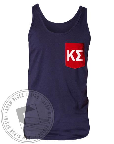 Kappa Sigma Contrast Custom Pocket Tank-Adam Block Design