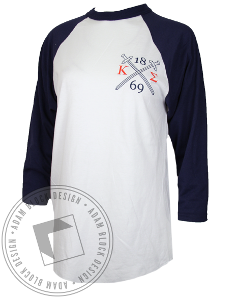 Kappa Sigma Greatest Men Recruitment Baseball Tshirt-gallery-Adam Block Design