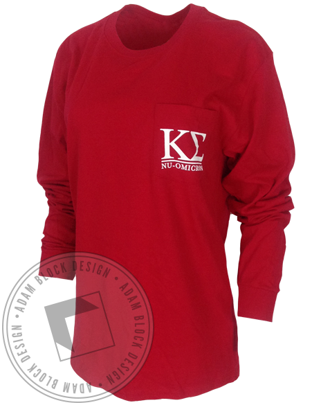 Kappa Sigma Holiday Dog Pocket Long Sleeve-Adam Block Design