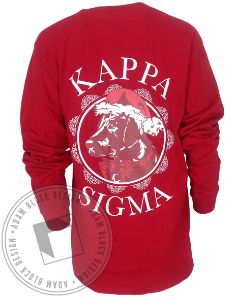 Kappa Sigma Holiday Dog Pocket Long Sleeve-gallery-Adam Block Design