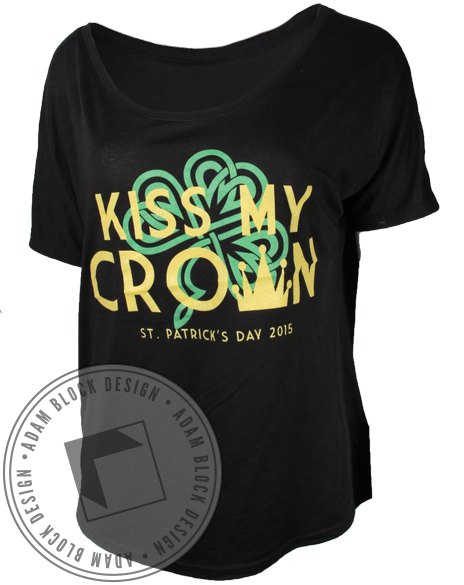Kiss My Crown Tee-Adam Block Design