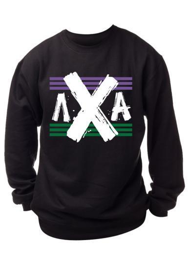 Lambda Chi Alpha Flag Sweatshirt-Adam Block Design