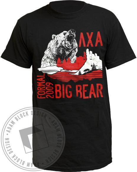 Lambda Chi Alpha Formal Bear Tee-Adam Block Design