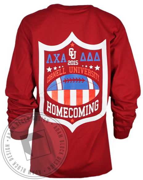 Lambda Chi Alpha Homecoming Longsleeve Shirt-Adam Block Design