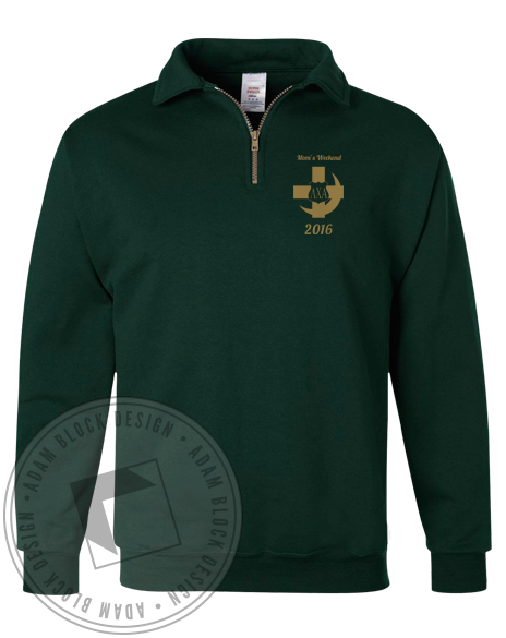 Lambda Chi Alpha Mom's Weekend Halfzip-Adam Block Design
