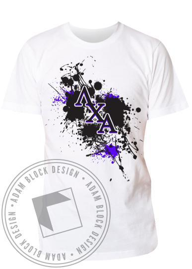 Lambda Chi Alpha Splatter Rush Day Tee-Adam Block Design