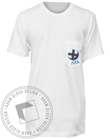 Lambda Chi Alpha Vegas Pocket Tee-Adam Block Design