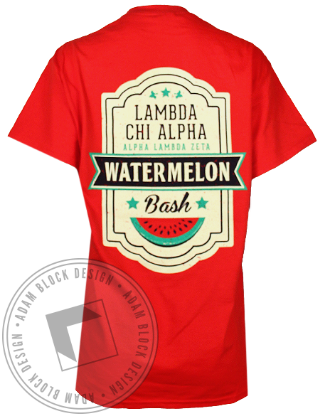 Lambda Chi Alpha Watermelon Pocket Tee-gallery-Adam Block Design