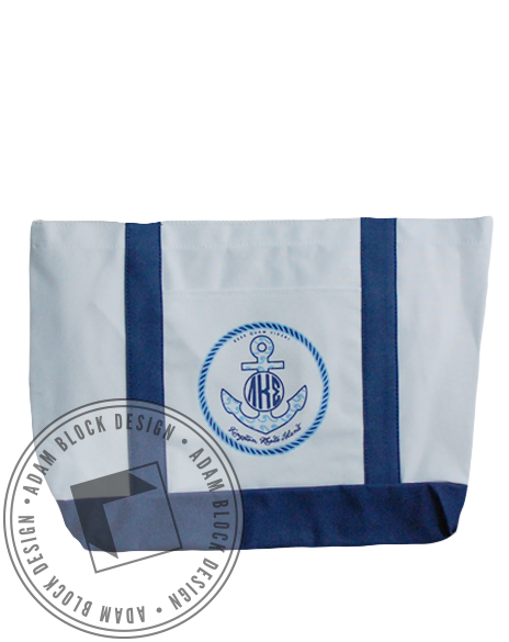 Lambda Kappa Sigma Anchor Tote-Adam Block Design