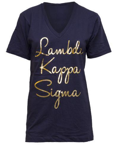 Lambda Kappa Sigma Bid Day V-Neck-gallery-Adam Block Design