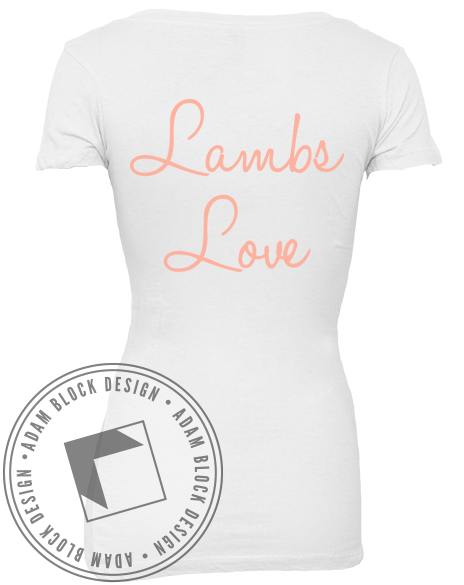 Lambda Kappa Sigma Tribal V-Neck-Adam Block Design