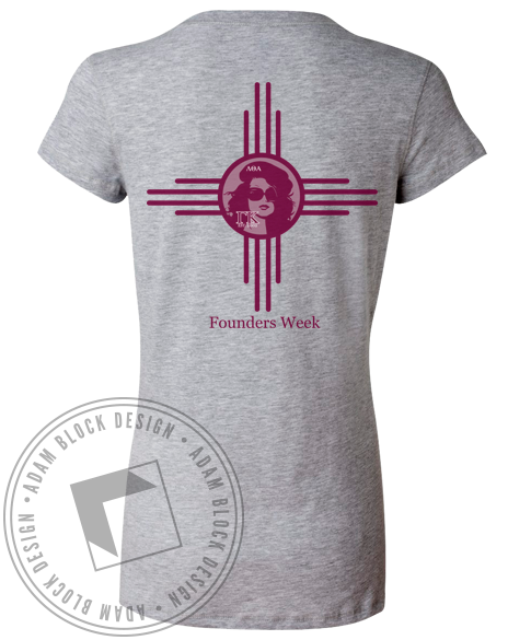 Lambda Theta Alpha Palm Vneck-gallery-Adam Block Design