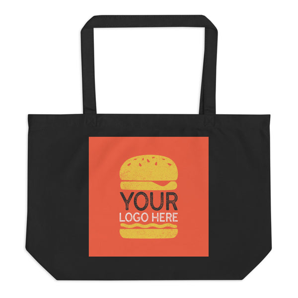 Design Your Own Large Organic Tote Bag - Color: Black - Adam Block Design