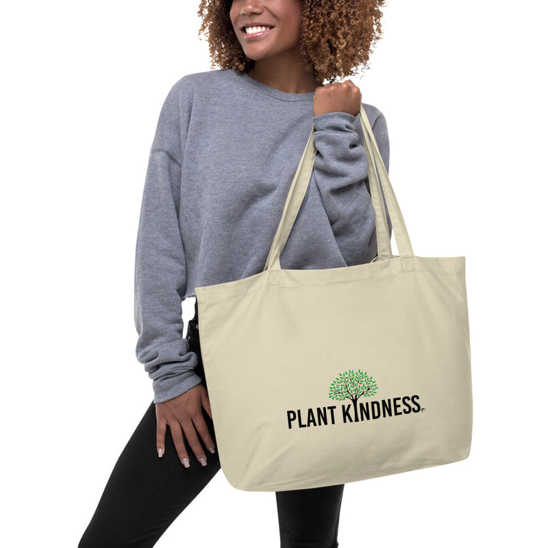 Plant Kindness Organic Tote Bag - Color: Oyster - Adam Block Design