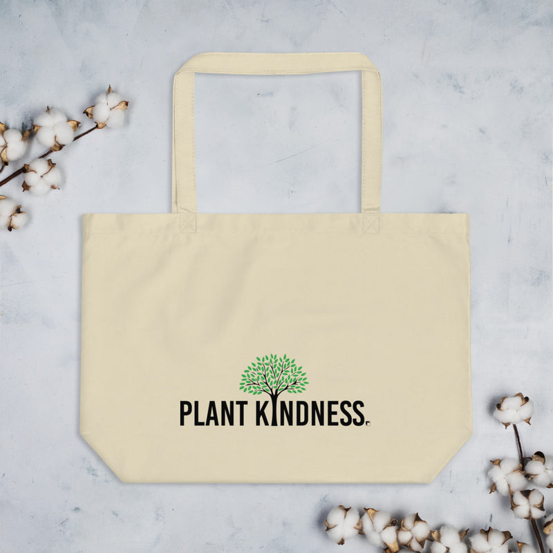 Plant Kindness Organic Tote Bag - Color: Oyster, Black - Adam Block Design