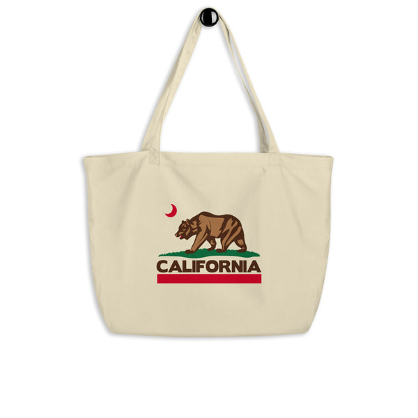 California Bear Large organic tote bag - Color: Oyster - Adam Block Design