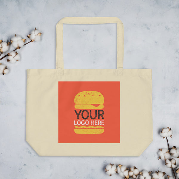 Design Your Own Large Organic Tote Bag - Color: Black, Oyster - Adam Block Design