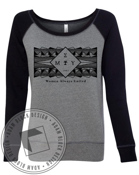 Mu Sigma Upsilon Women United Sweatshirt-Adam Block Design