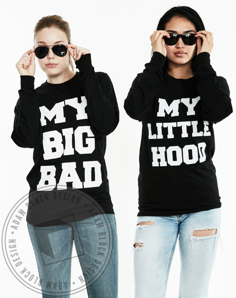 My Big Bad, My Little Hood Long Sleeve-Adam Block Design