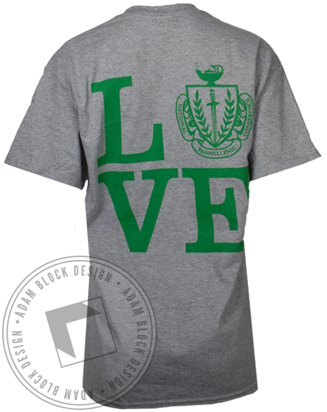 National Panhellenic Conference Crest Love Tshirt-gallery-Adam Block Design