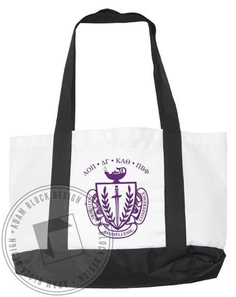National Panhellenic Conference Crest Tote-gallery-Adam Block Design