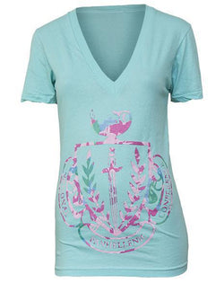 National Panhellenic Conference Crest V-Neck-gallery-Adam Block Design