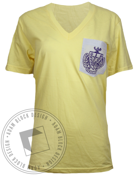 National Panhellenic Conference Custom Pocket Vneck-gallery-Adam Block Design