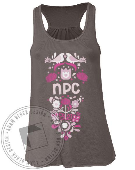 National Panhellenic Conference Floral Tank-gallery-Adam Block Design