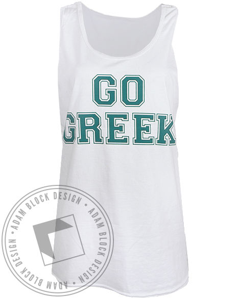 National Panhellenic Conference Go Greek Tank Top-gallery-Adam Block Design
