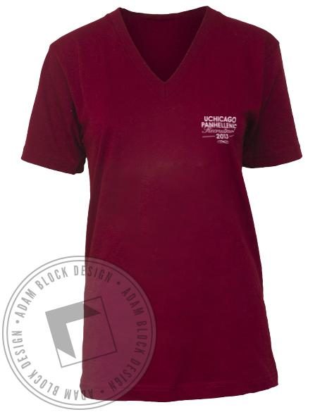 National Panhellenic Conference NPC Crest V-neck-Adam Block Design