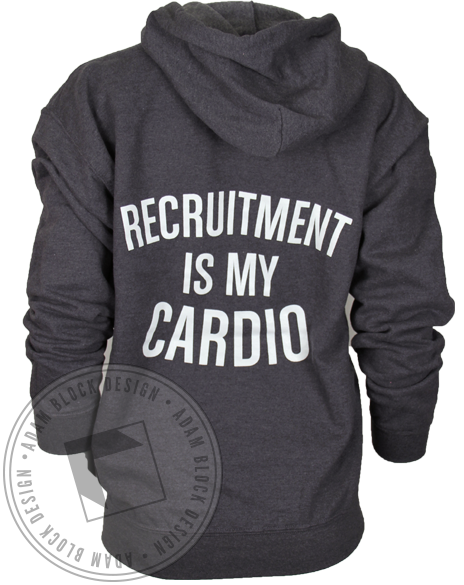 National Panhellenic Conference Recruitment is my Cardio Sweatshirt-gallery-Adam Block Design
