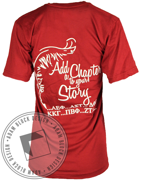 National Panhellenic Conference Your Story Vneck-Adam Block Design