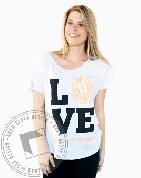 National Panhellenic Love Crest Tee-Adam Block Design