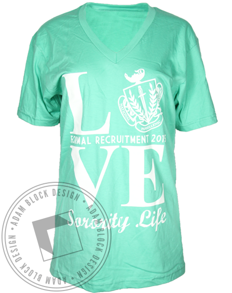 National Panhellenic LOVE Sorority Life Shirt-Adam Block Design