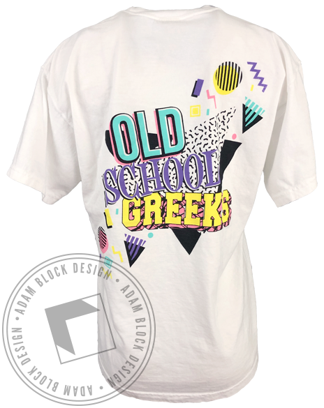 Old School Greek Week T-shirt-Adam Block Design
