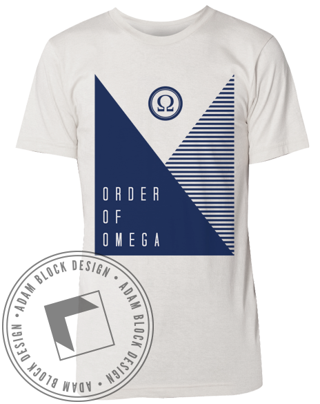 Order Of Omega Stripe Tee-gallery-Adam Block Design