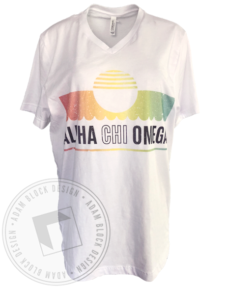 Alpha Chi Omega Summer V-neck-gallery-Adam Block Design