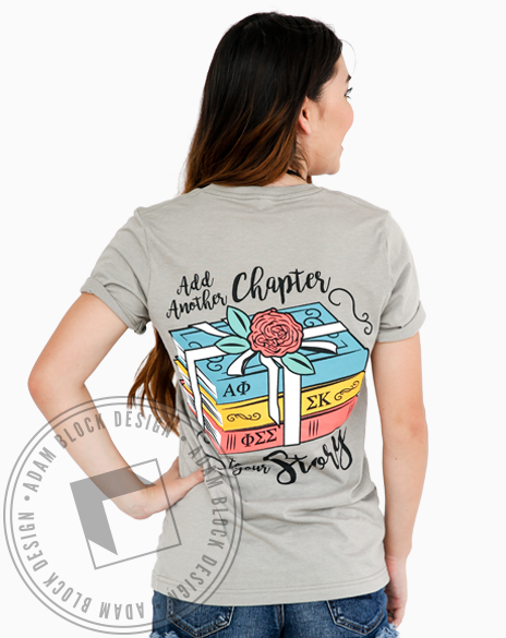 Panhellenic Add A Chapter To Your Story Vneck-gallery-Adam Block Design