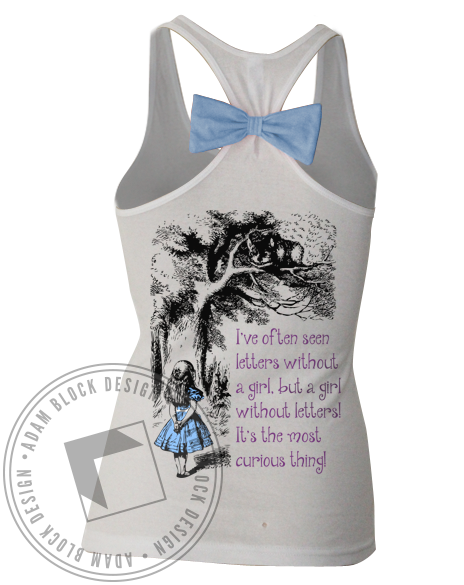 Panhellenic Alice In Wonderland Bow Tank-gallery-Adam Block Design
