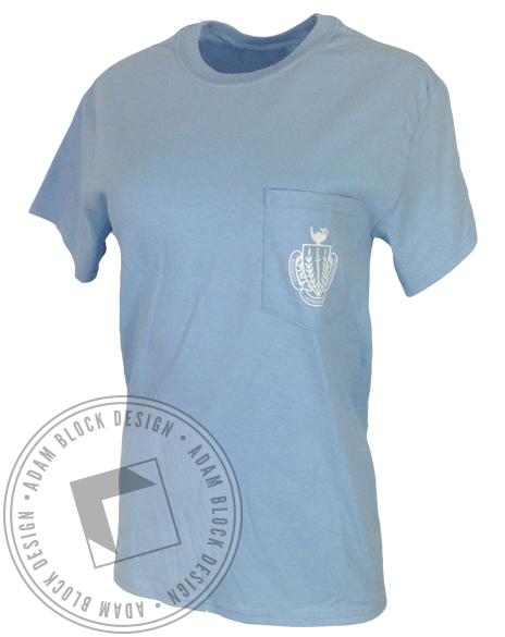 Panhellenic Gave Up Our Letters Pocket Short Sleeve-Adam Block Design
