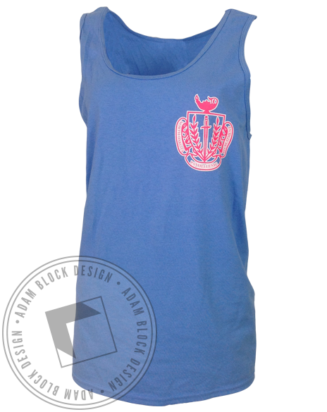 Panhellenic Going Greek Tank-Adam Block Design