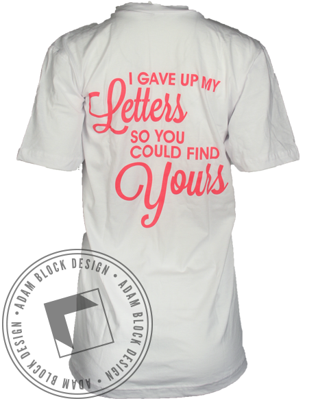 Panhellenic Letters V-Neck-Adam Block Design