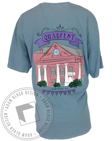 Panhellenic Quadfest Pocket tee-Adam Block Design