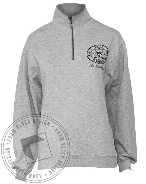 Phi Delta Epsilon Crest Half-Zip-gallery-Adam Block Design