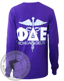 Phi Delta Epsilon Long Sleeve-Adam Block Design