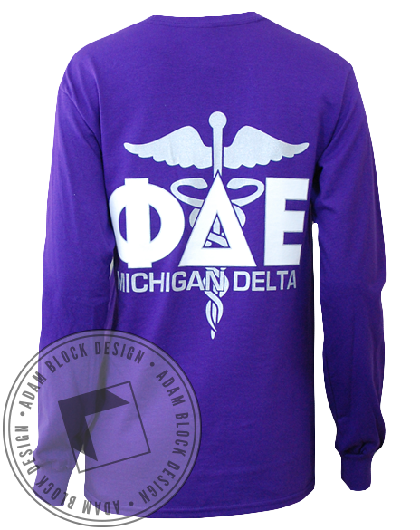 Phi Delta Epsilon Long Sleeve-gallery-Adam Block Design