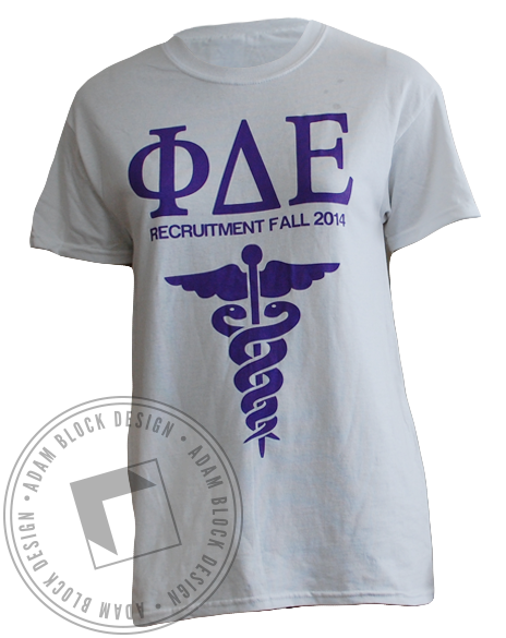 Phi Delta Epsilon Recruitment Tee-gallery-Adam Block Design
