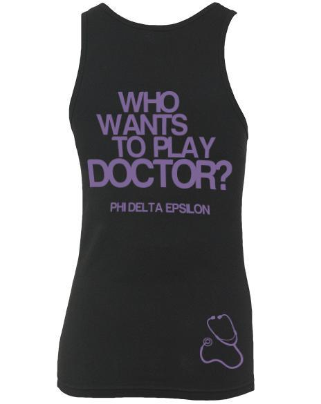 Phi Delta Epsilon Who Wants To Play Doctor Tank-Adam Block Design