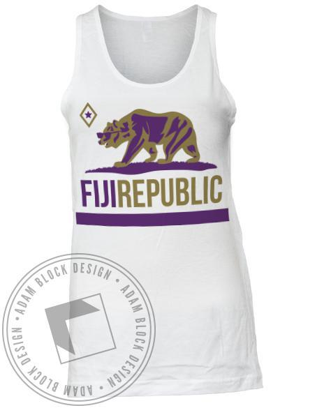Phi Gamma Delta Fiji Bear Republic Tank-Adam Block Design